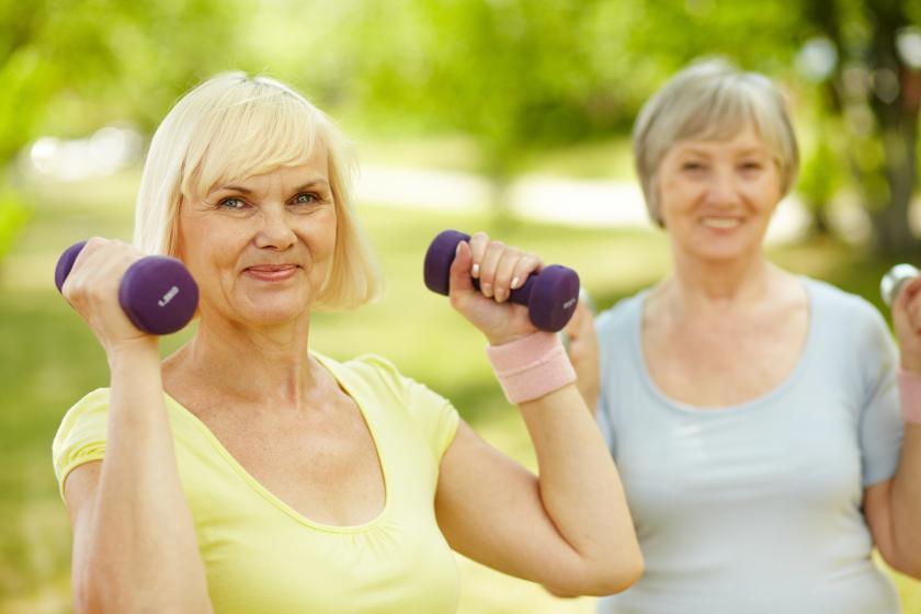 Low impact exercising for seniors